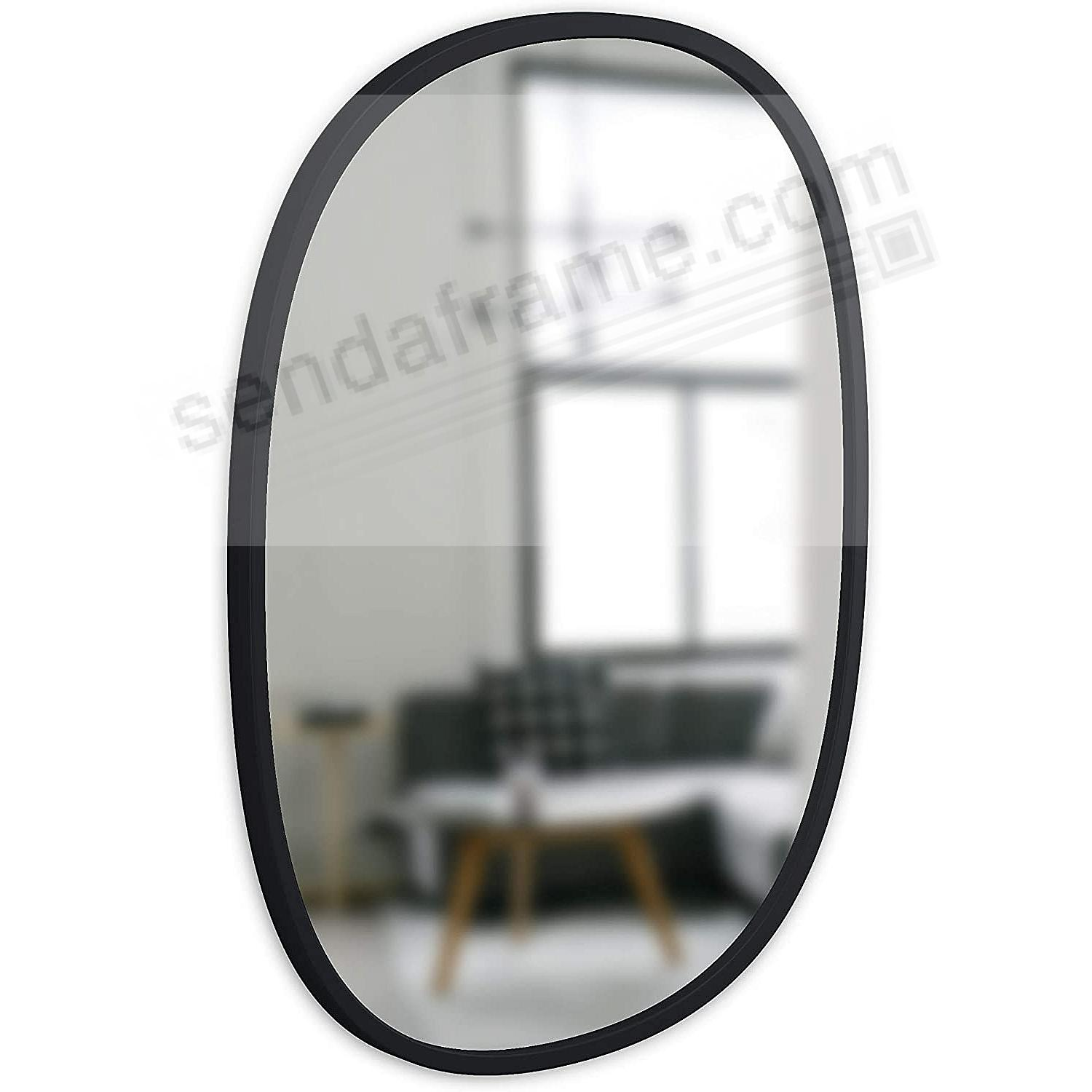 The HUB WALL MIRROR 24x18inch OVAL Black by Umbra®