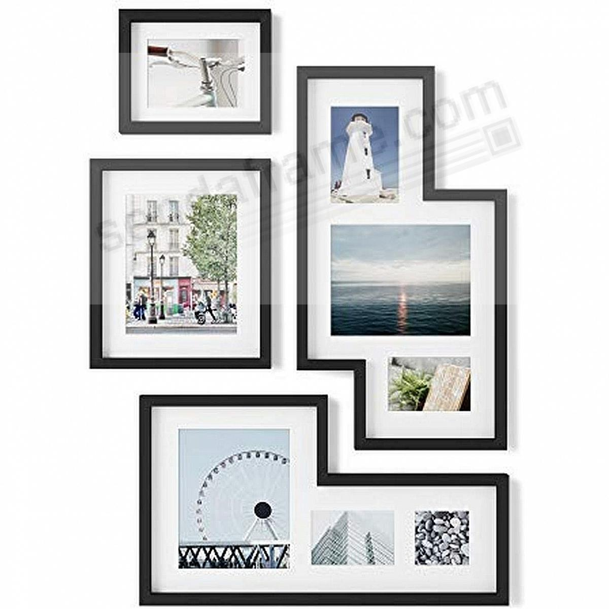 MINGLE Gallery Collage Picture Frame Set - Black - by Umbra
