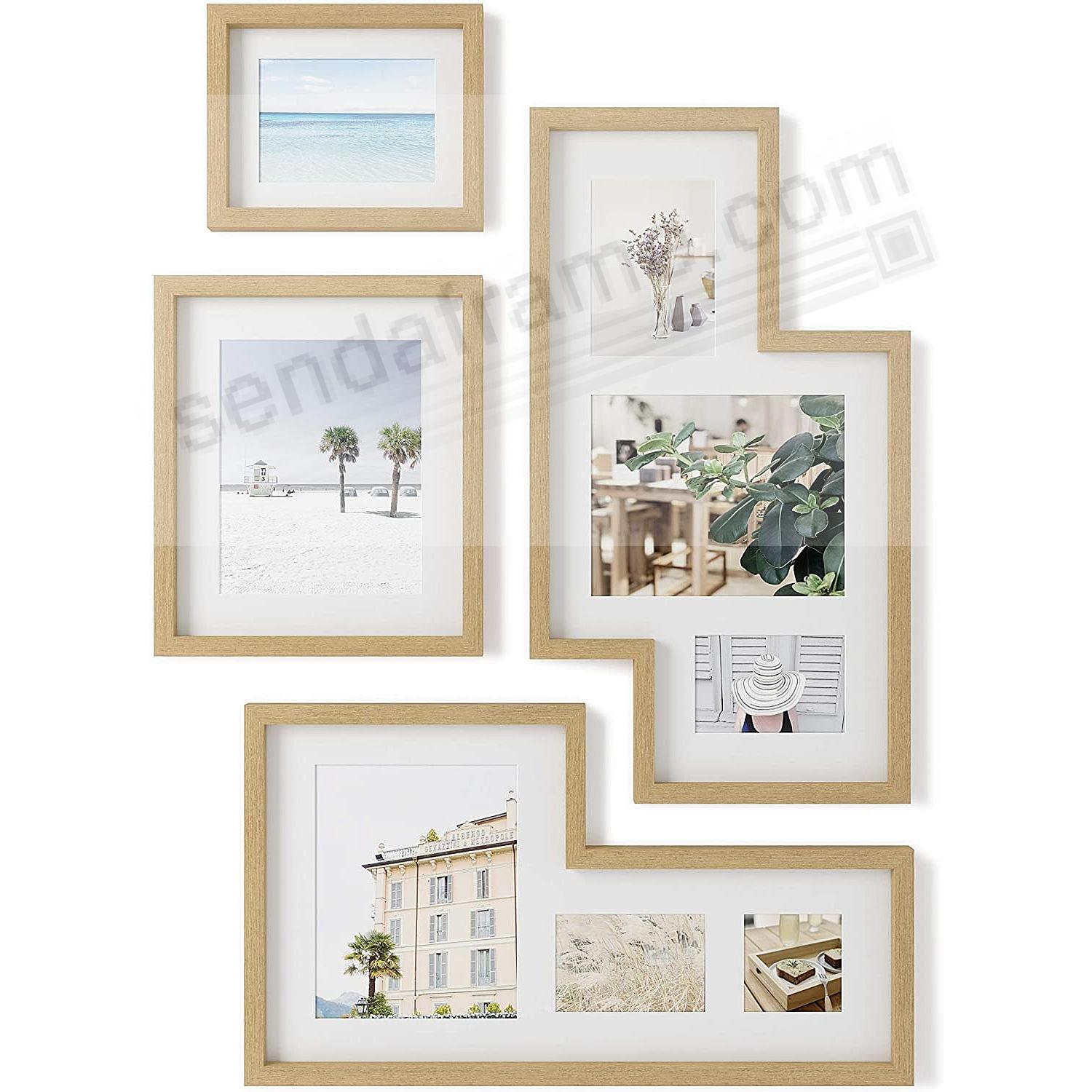 MINGLE Gallery Collage Picture Frame Set - Natural - by Umbra