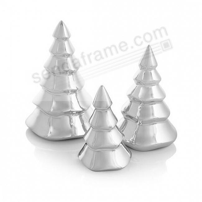 Miniature CHRISTMAS TREE Set crafted by Nambe®