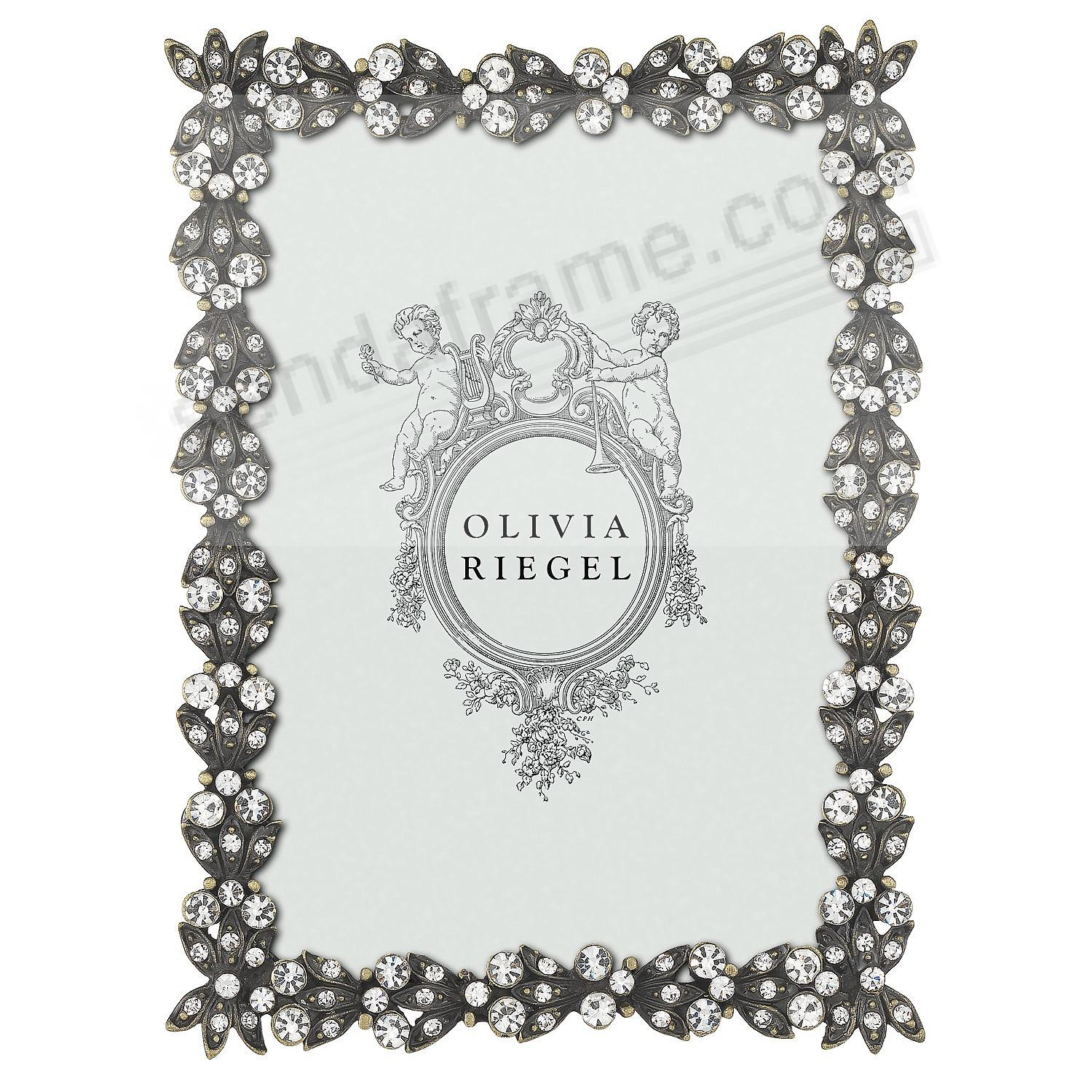 BRONZE VICTORIA Austrian Crystal 2½x3½ frame by Olivia Riegel