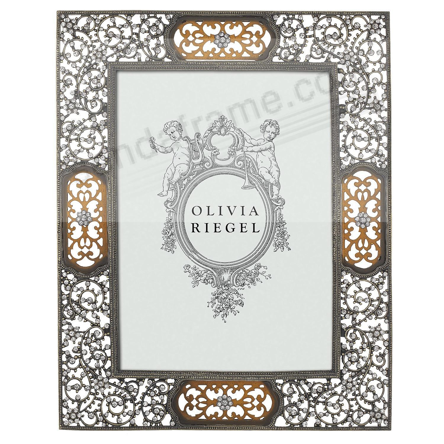 QUEEN ANNE'S LACE Austrian Crystal BRONZE 5x7 frame by Olivia Riegel®
