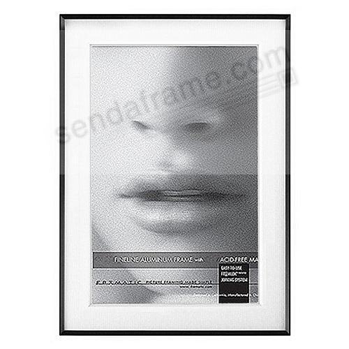 FINELINE Black Aluminum 5x7/4x6 Matted by Framatic®