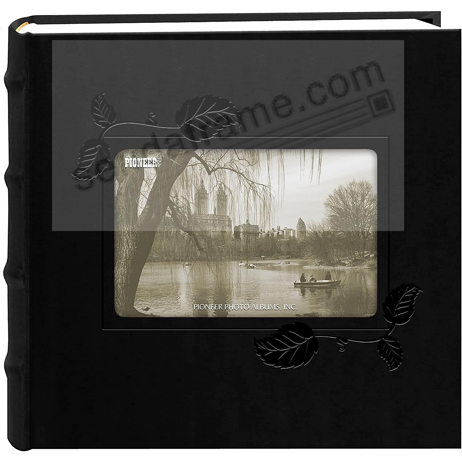Black-IVY Embroidered 2-up photo album by Pioneer®
