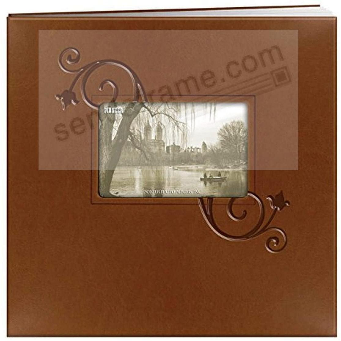 Brown-FLORAL Embroidered 12x12 post-bound Memory Book by Pioneer®