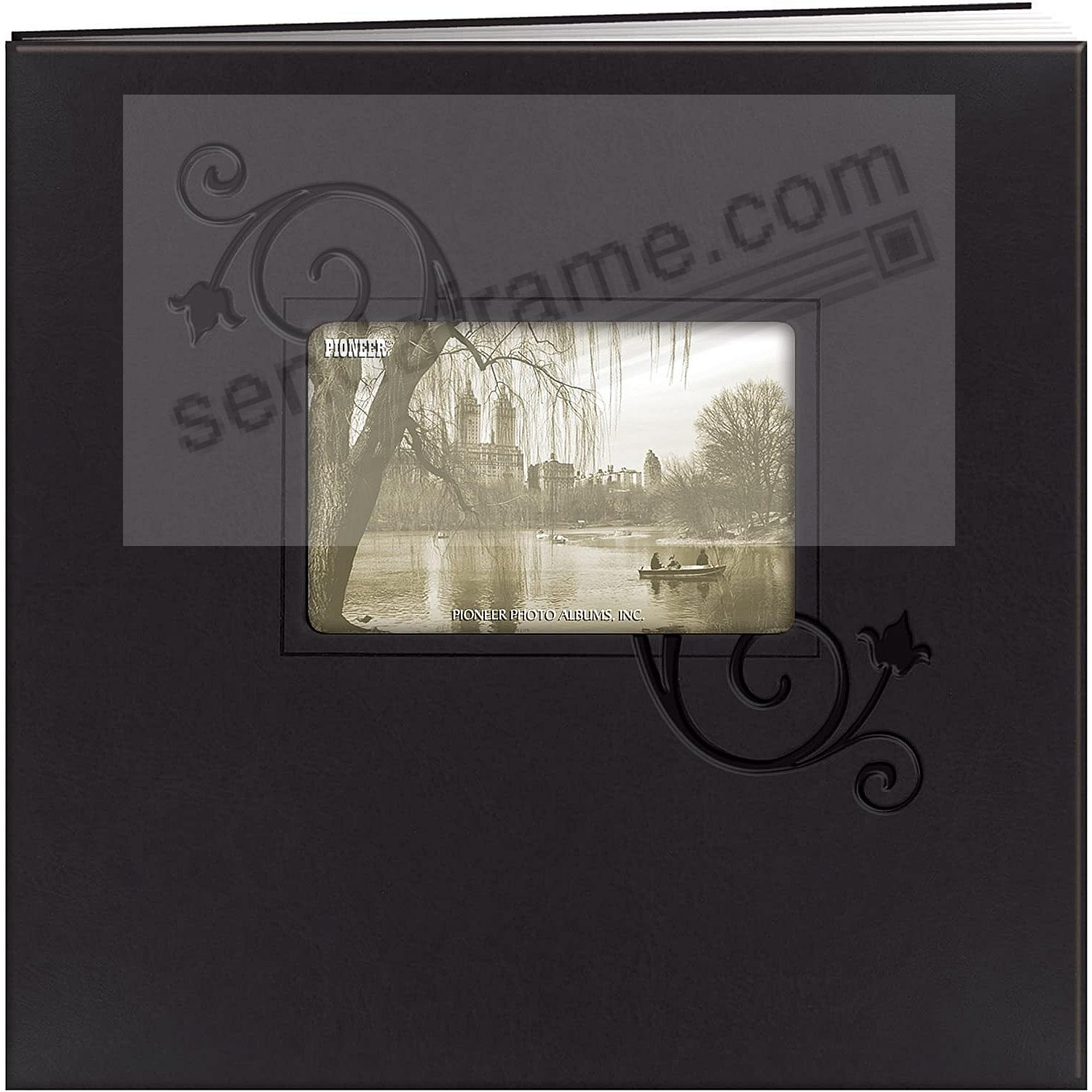 Black-FLORAL Embroidered 12x12 post-bound Memory Book by Pioneer®