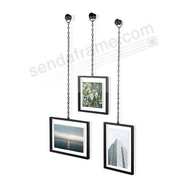 FOTOCHAIN PHOTO DISPLAY BLACK hangs your three prints by Umbra®