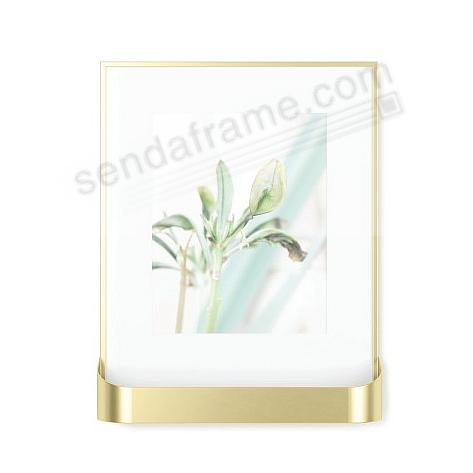 The MATINEE GALLERY FRAME Matte-Brass 8x10 by Umbra®