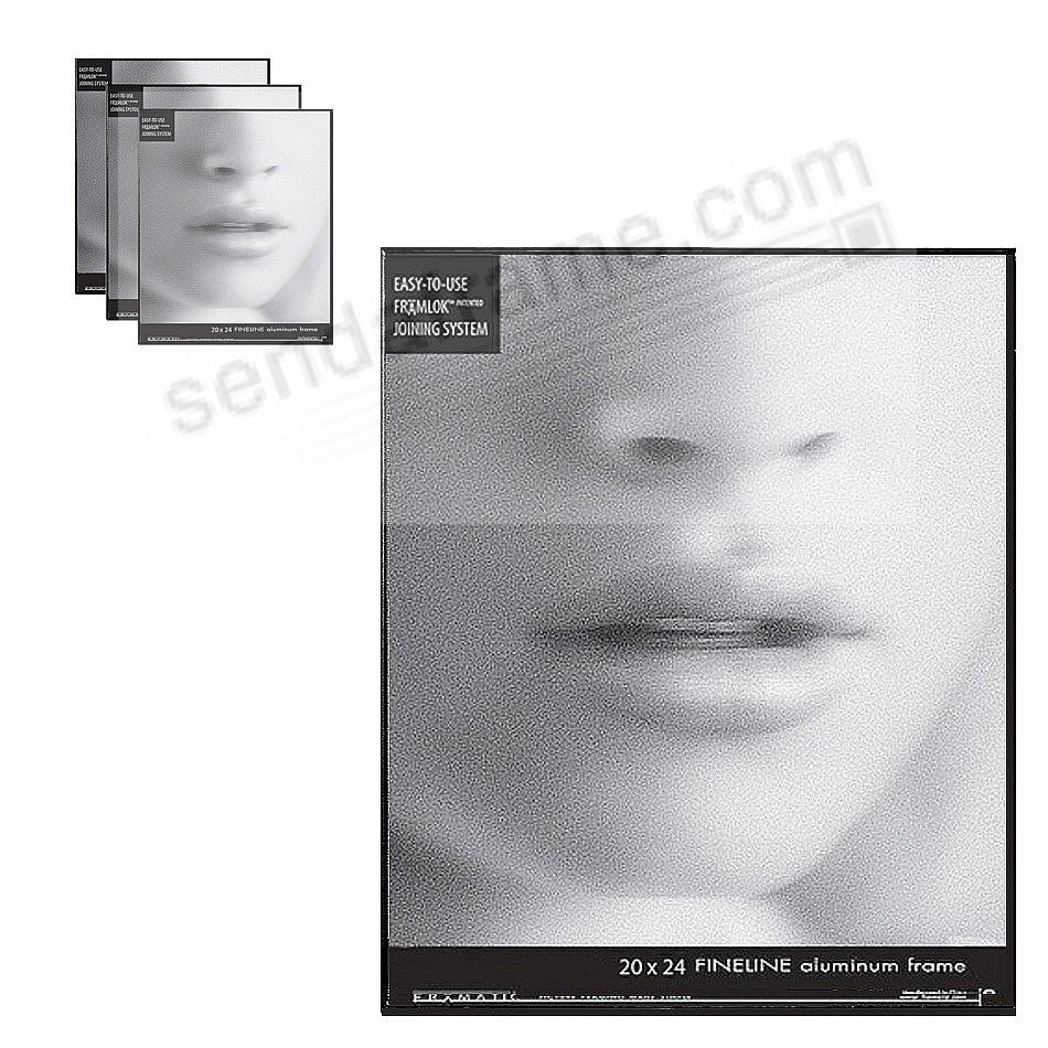 FINELINE Black Aluminum 20x24 by Framatic® (sold in 3s)