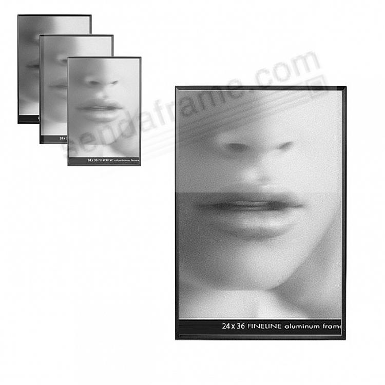 FINELINE Black Aluminum 24x36 by Framatic® (sold in 3s)