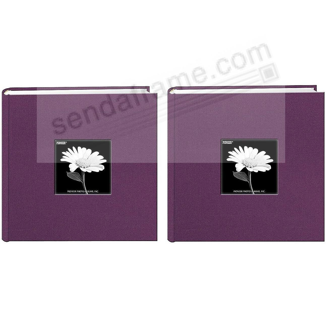 WILDBERRY PURPLE cloth 2-up frame photo album by Pioneer® (2-pack)
