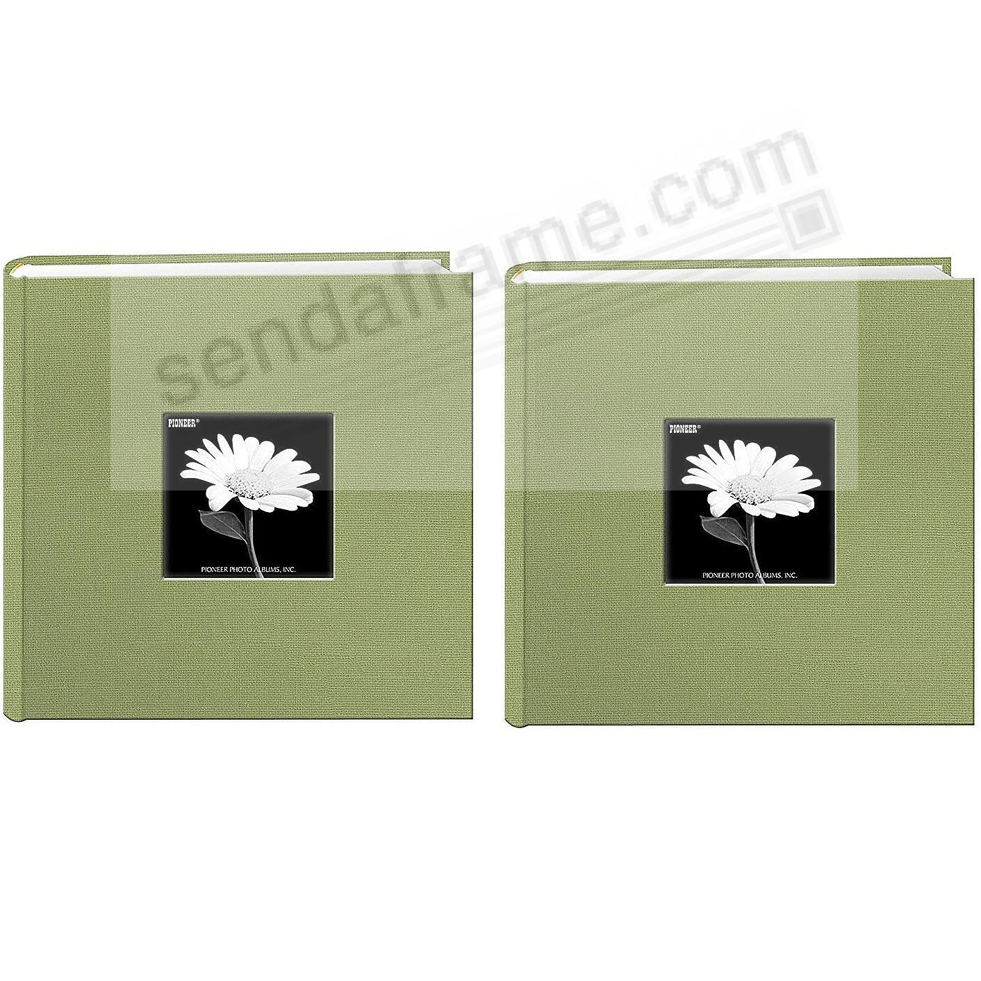 Sage-Green cloth 2-up frame photo album by Pioneer® - 2pc Bundle
