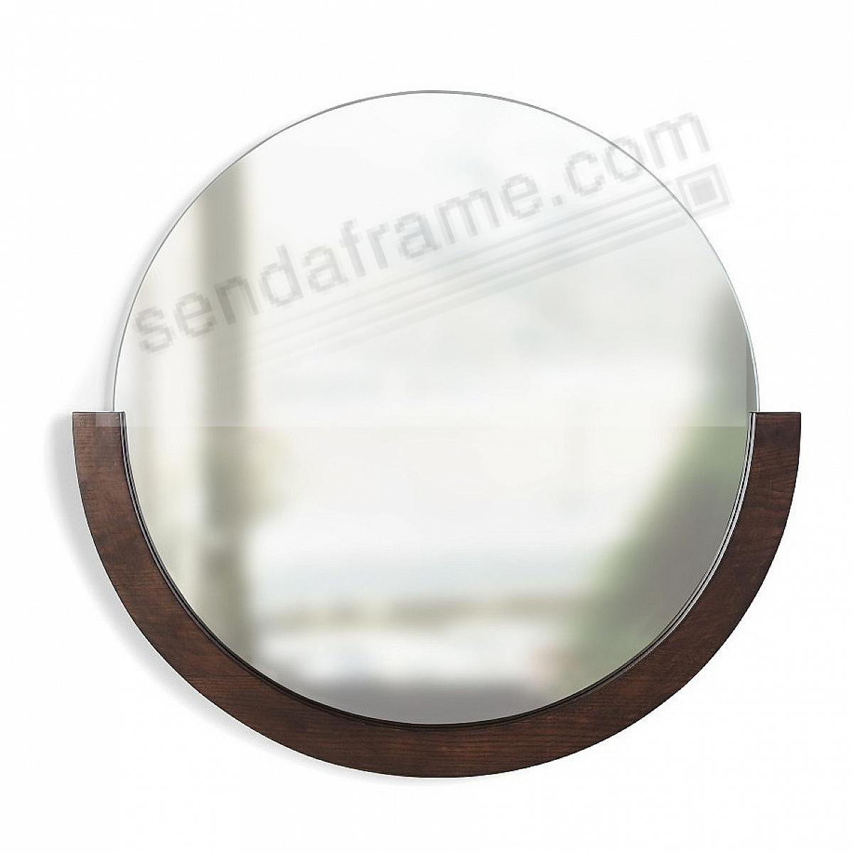 The MIRA MIRROR 22½in Walnut Wood by Umbra®