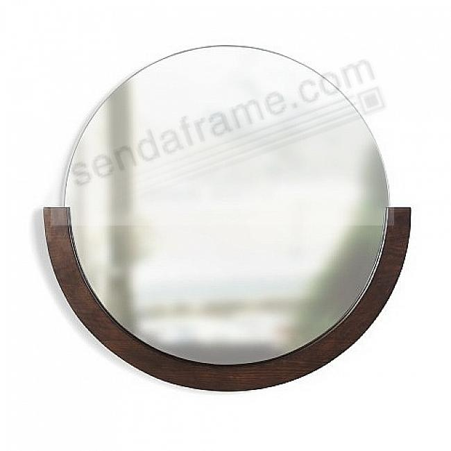 MIRA MIRROR 30in Walnut Wood by Umbra®