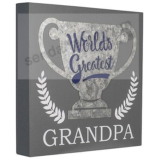 Worlds Greatest Grandpa TROPHY 6x6 Box Sign