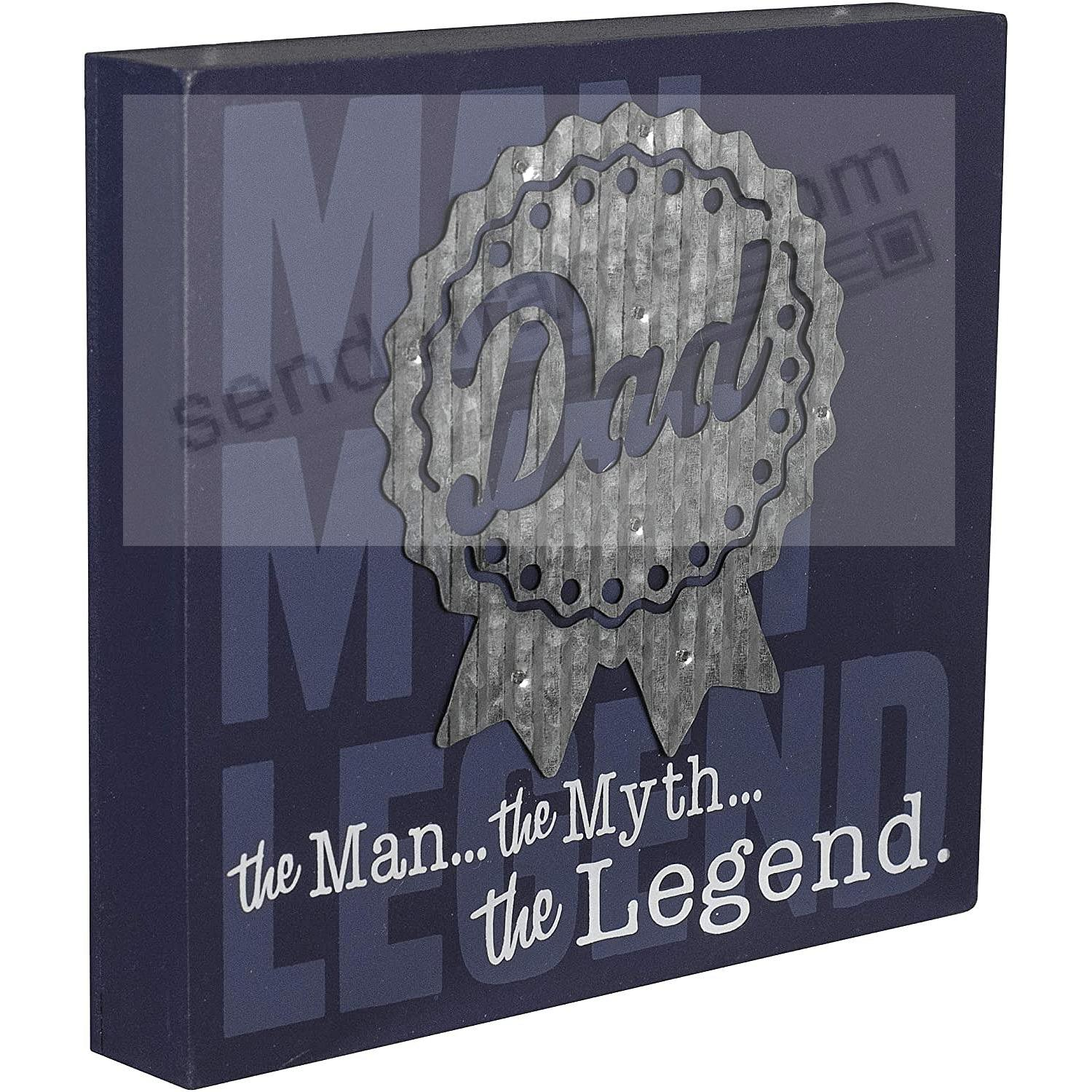 Dad - the Legend MEDAL 6x6in Box Sign