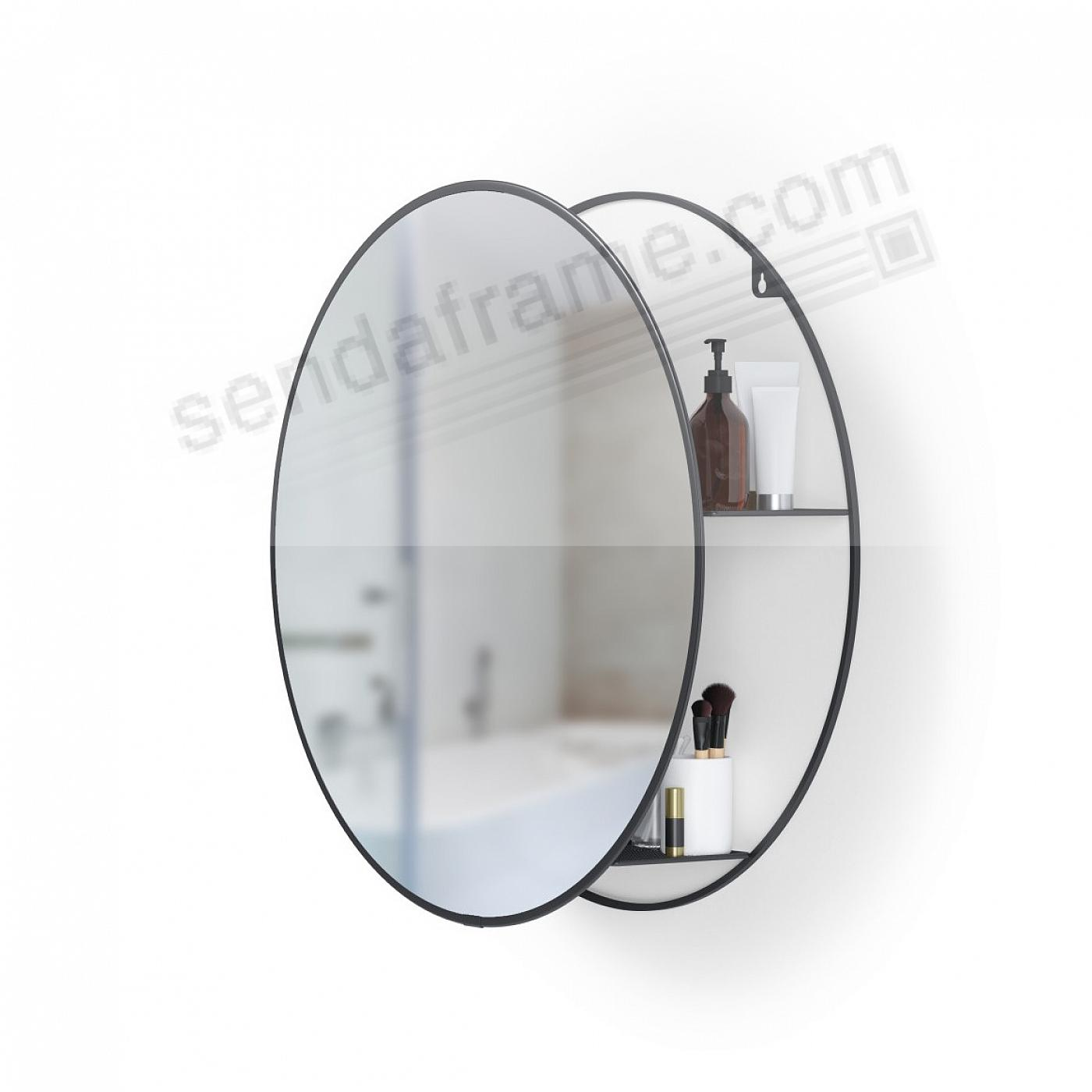 The CIRKO Mirror and Storage Unit Black by Umbra®