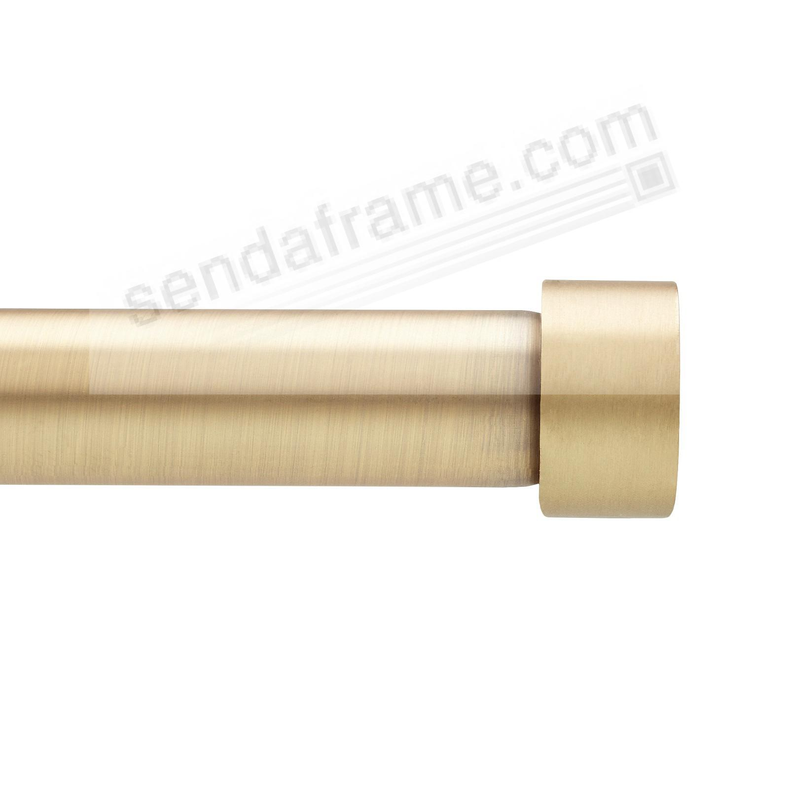 CAPPA 1in 36-66in BRASS SINGLE ROD Drapery Hardware by Umbra®