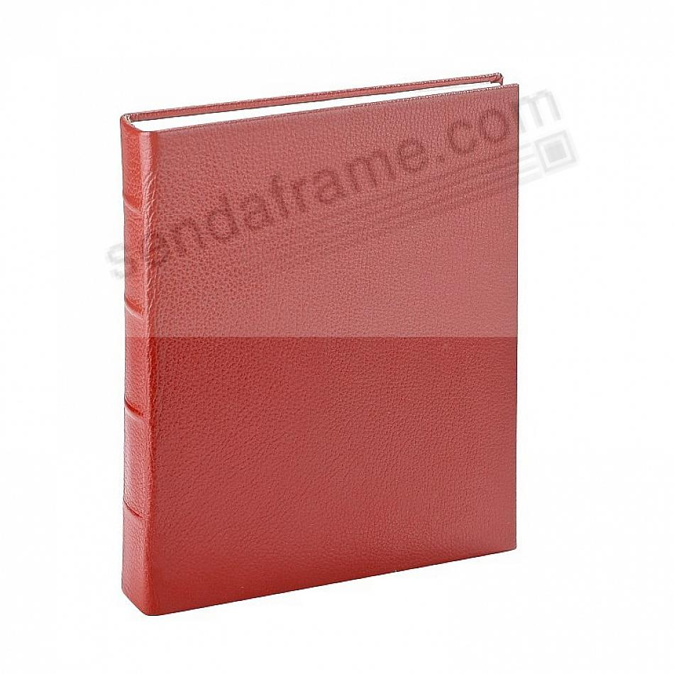 RED JUNIOR 8x9½ Fine Leather Bound Scrapbook Album by Graphic Image™