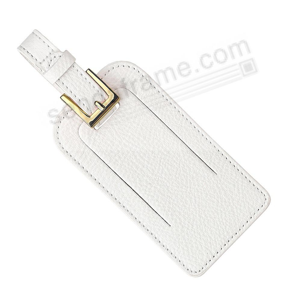 LUGGAGE TAG in WHITE Fine Nappa Leather by Graphic Image®