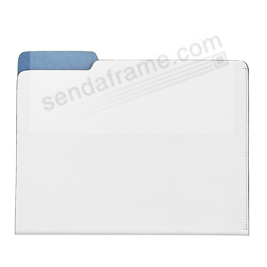 The CARLO File Folder WHITE Leather by Graphic Image®