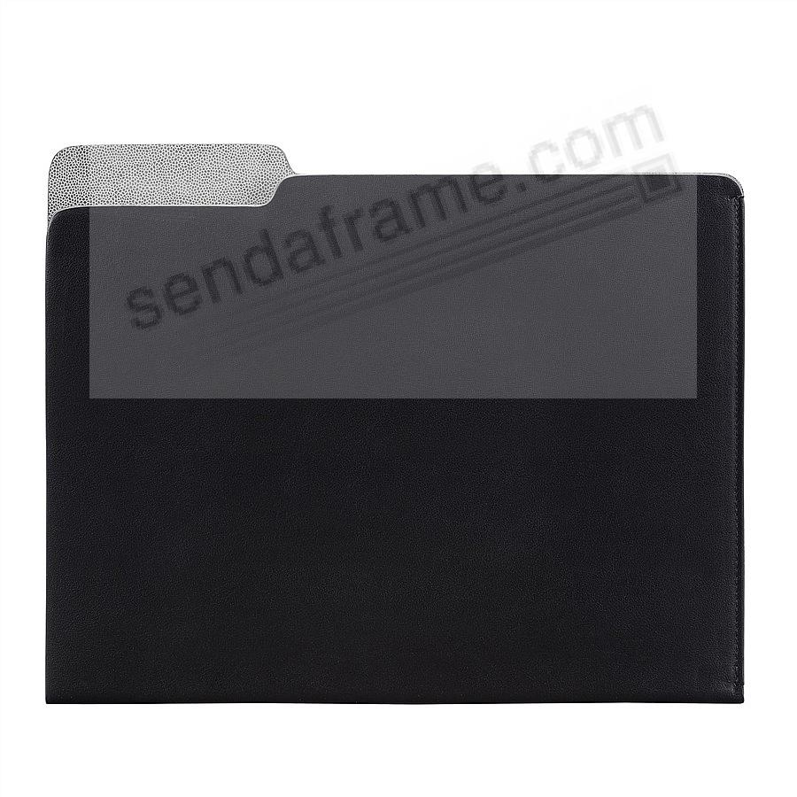 The CARLO File Folder BLACK Leather by Graphic Image®