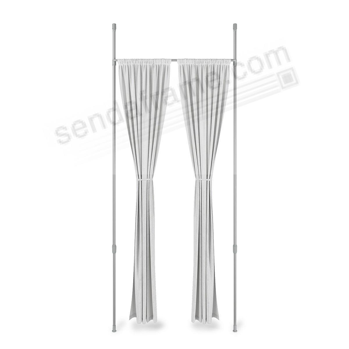 The ANYWHERE 1in 36-66in NICKEL/STEEL SINGLE ROD Drapery Hardware System by Umbra®