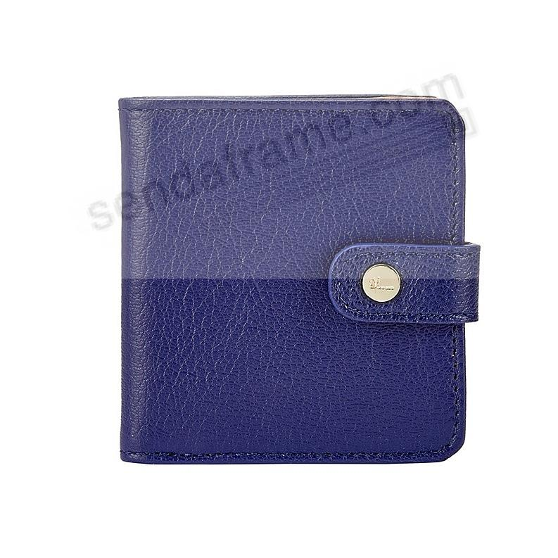 Quinn Wallet INDIGO-BLUE Goatskin Leather by Graphic Image®
