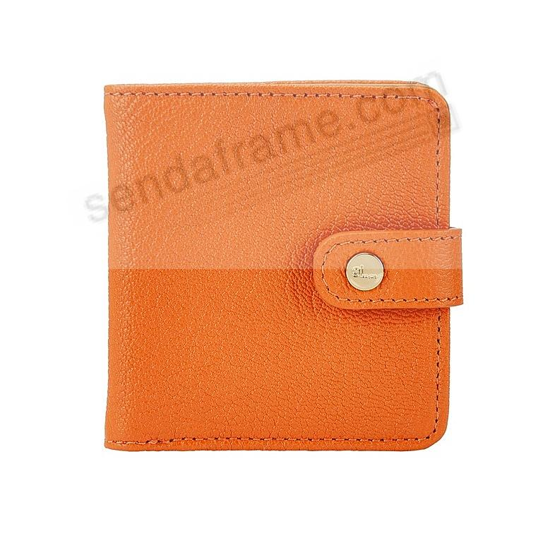 Quinn Wallet ORANGE Goatskin Leather by Graphic Image®