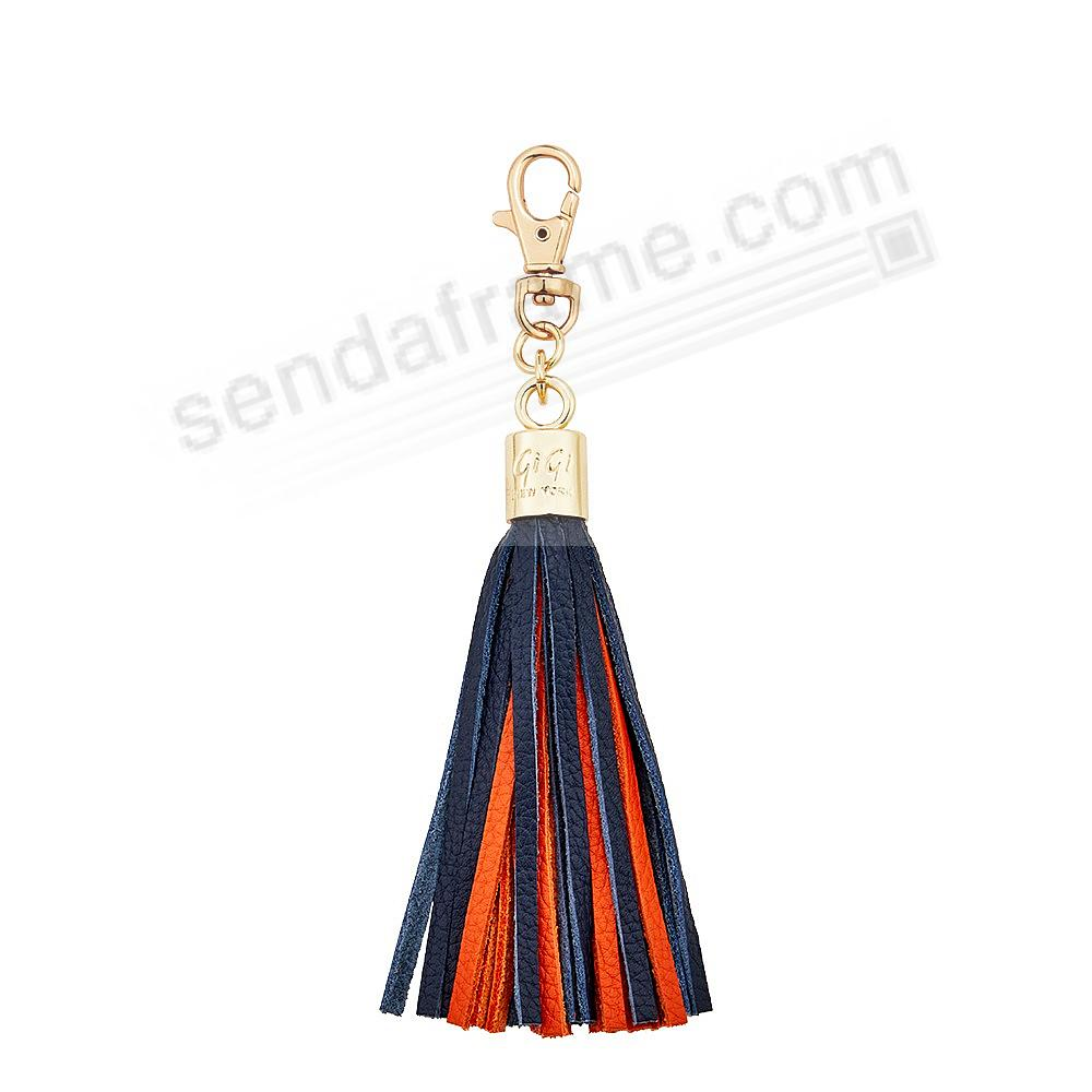 GAME DAY NAVY+CLEMENTINE Nappa Fine Leather TASSEL by Gigi New York®