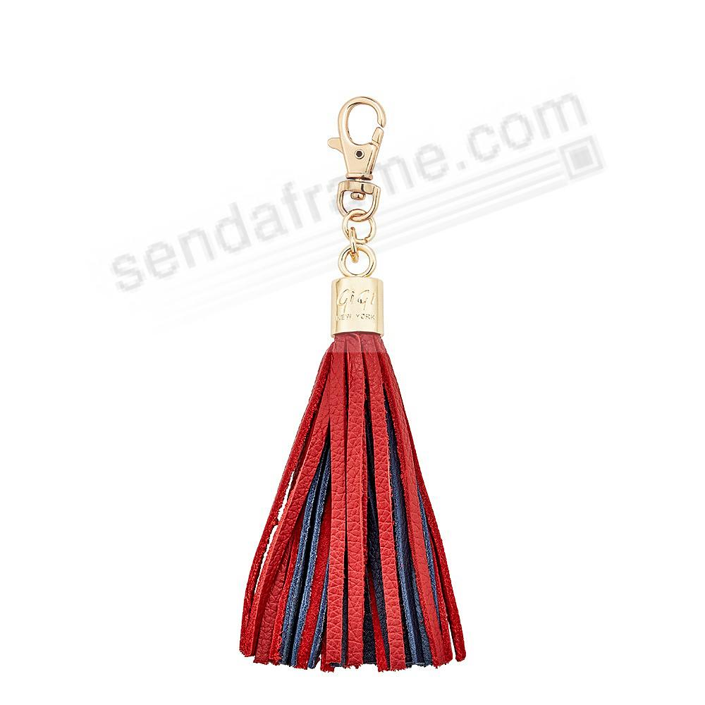 GAME DAY RED+NAVY Nappa Fine Leather TASSEL by Gigi New York®