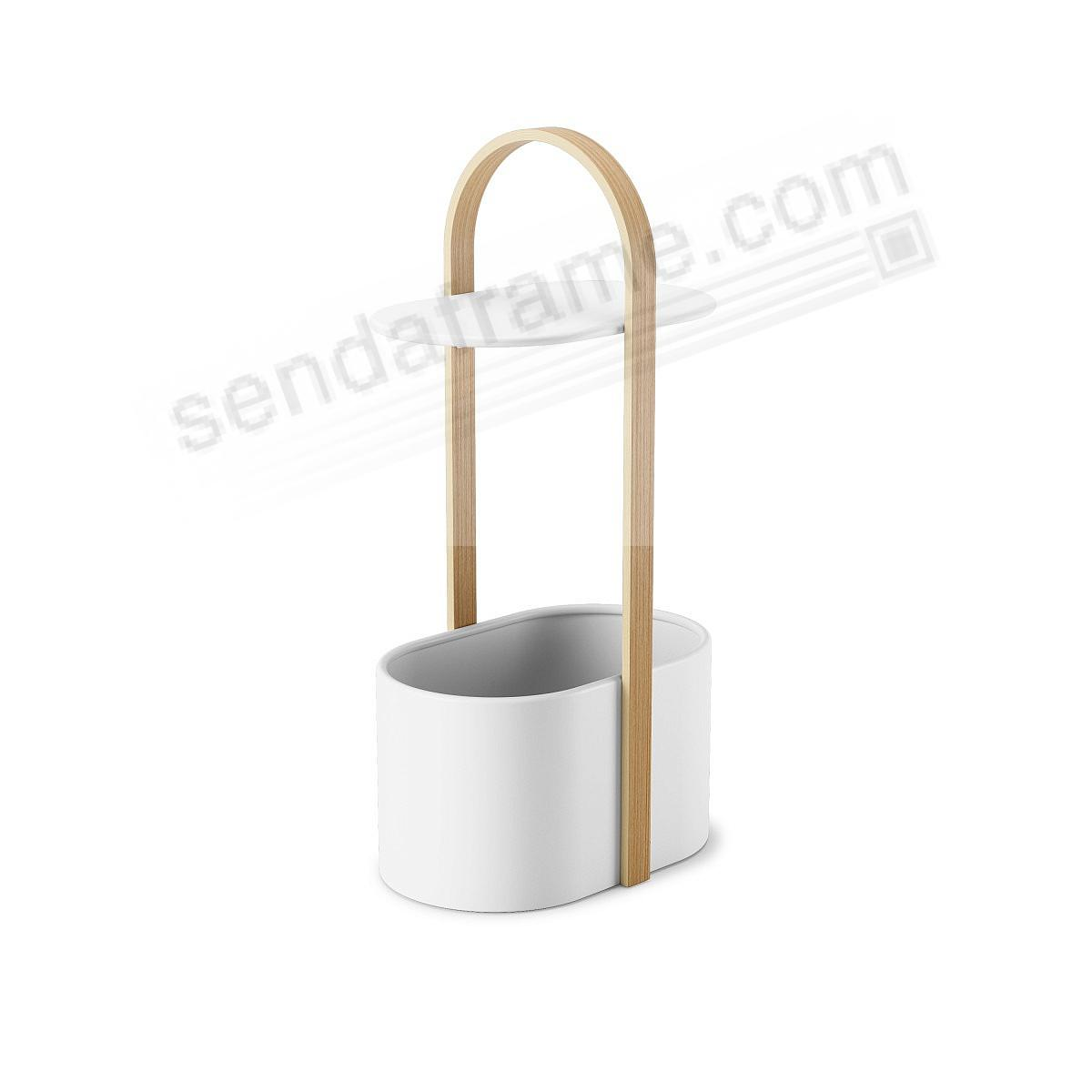 The BELLWOOD STORAGE SIDE TABLE WHITE/NATURAL by Umbra®