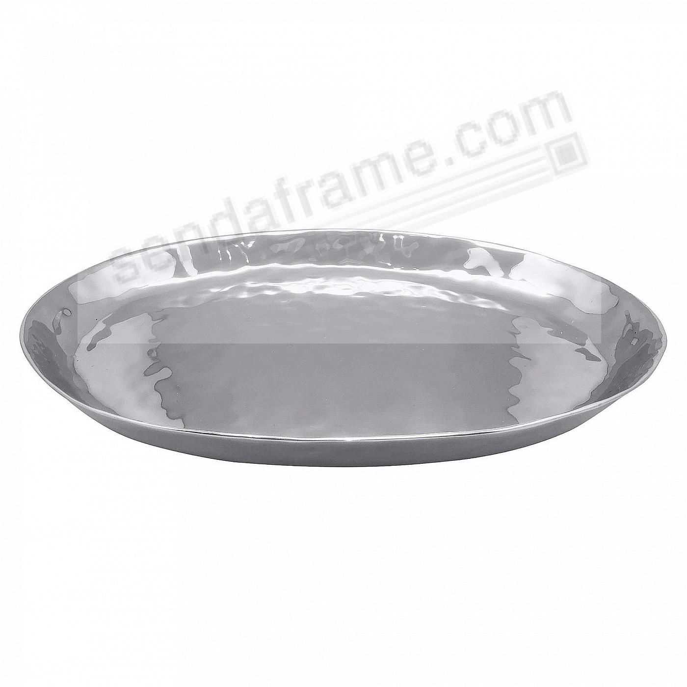 The SHIMMER 20in OVAL TRAY by Mariposa®