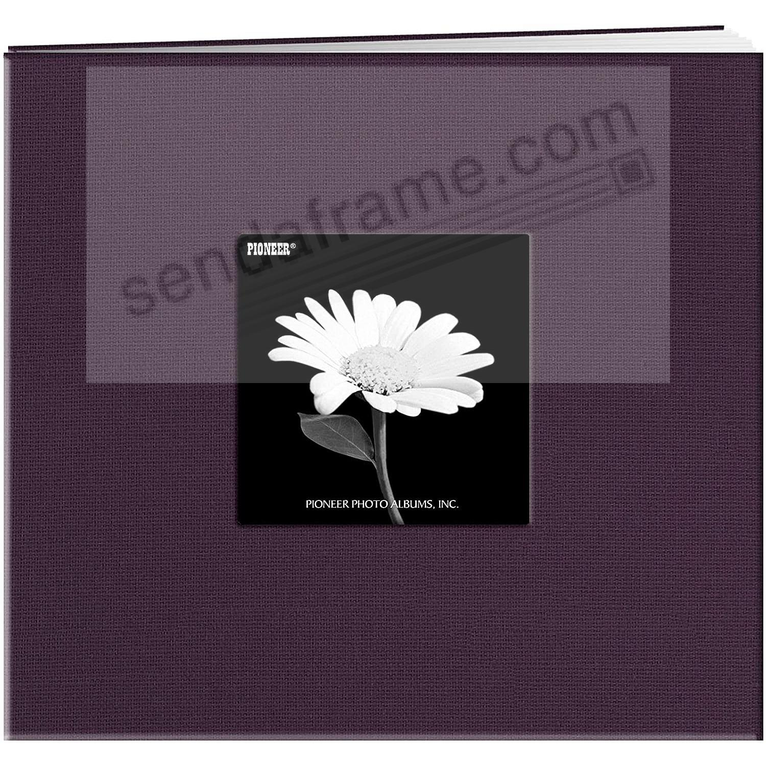 WILDBERRY Purple 8x8 Fabric Scrapbook album by Pioneer®