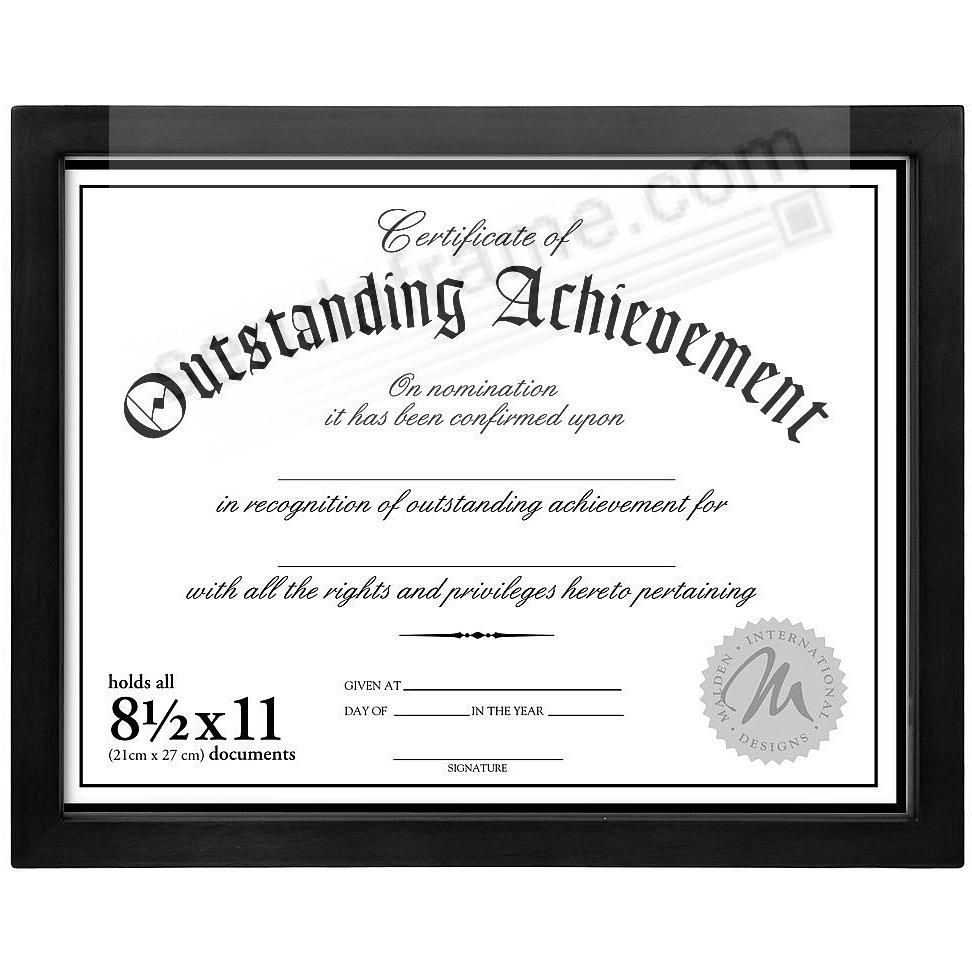Black Wood Certificate frame by Malden Home Profiles®