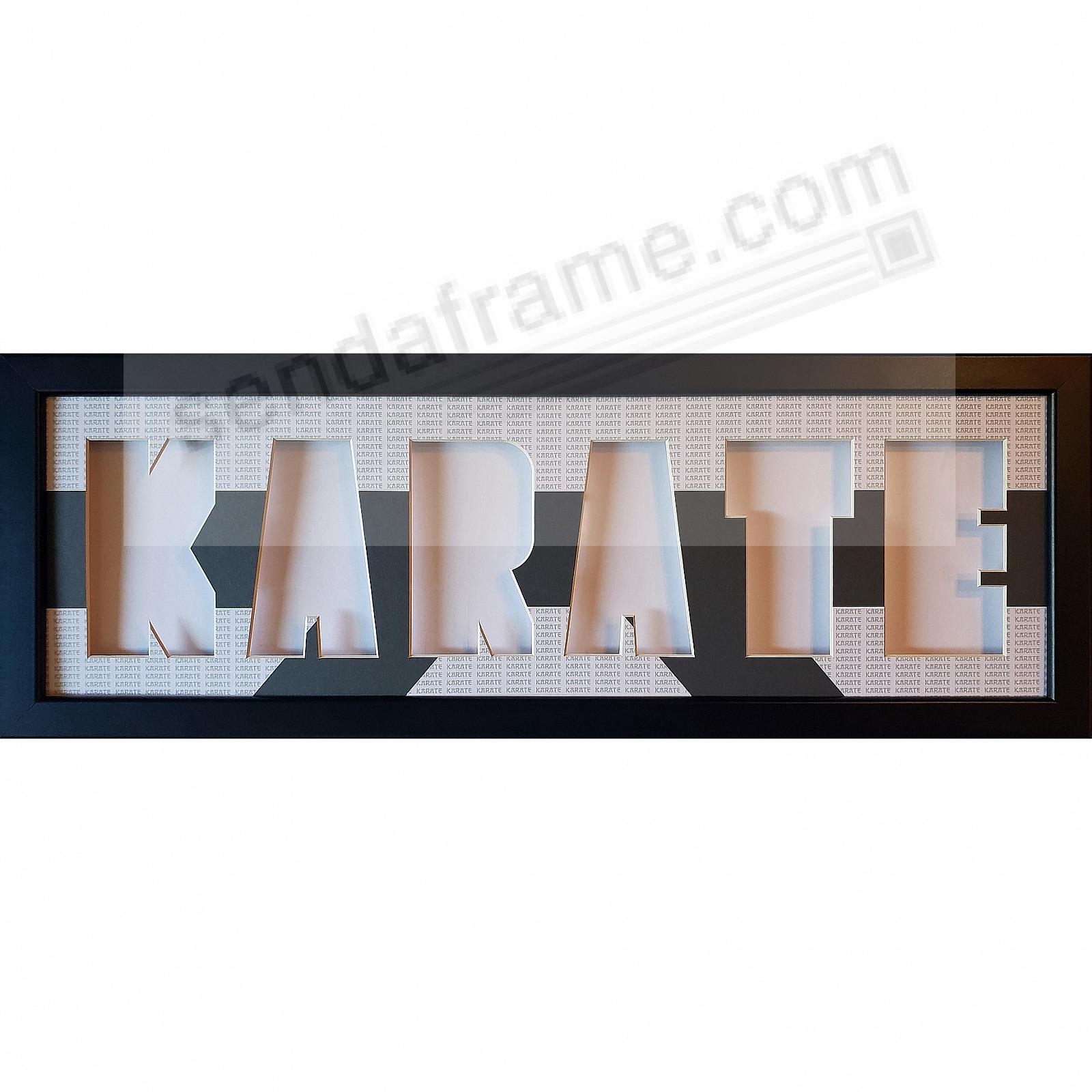 KARATE Cut-out Letters Frame w/Belt Print Mat