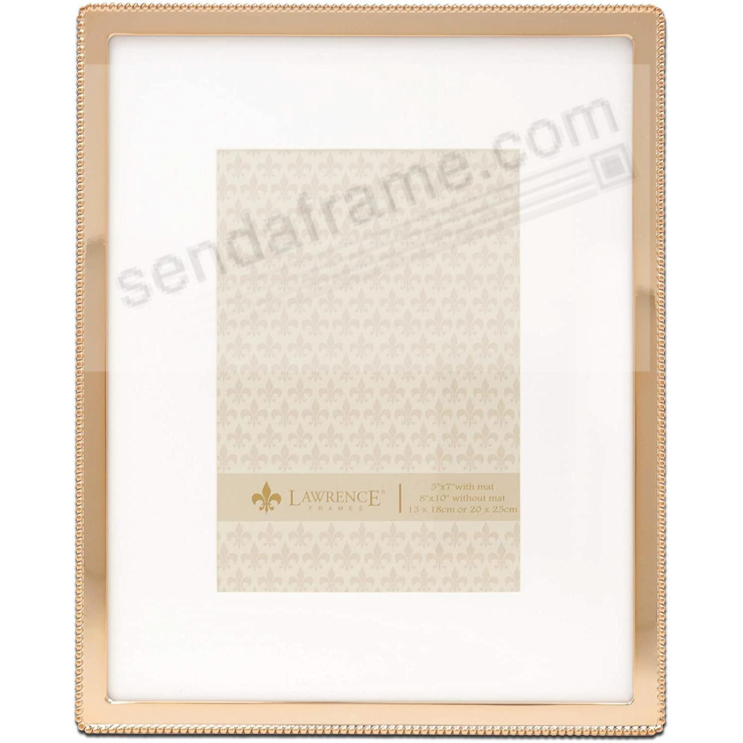 Beaded Trim Gold finish 8x10/5x7 frame by Lawrence®