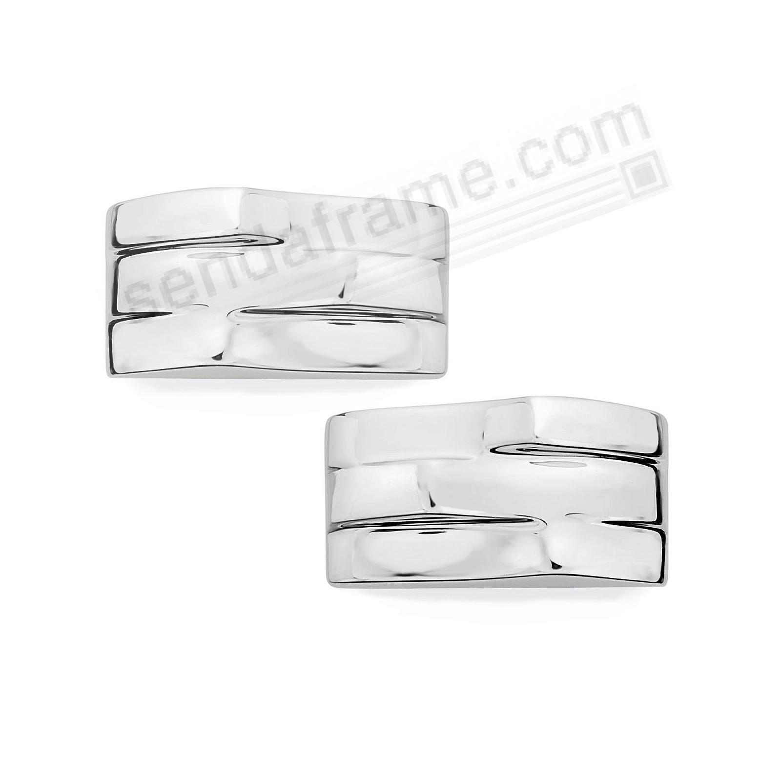 TRIPLE WAVE Cufflinks in Fine .925 STERLING SILVER by Nambe®