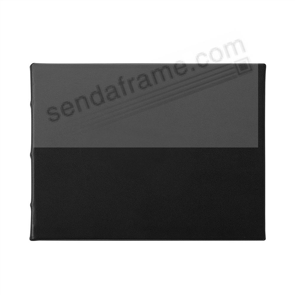 Elegant Black Calfskin Leather Guest-Book w/Blank Cover by Graphic Image®
