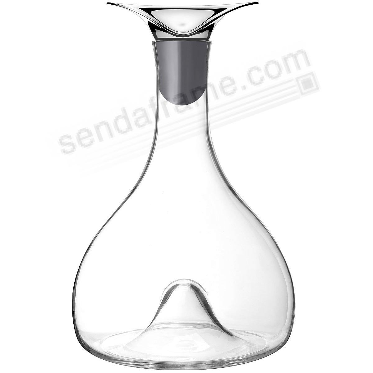 The WINE + BAR CARAFE Glass/Stainless Steel by Georg Jensen®