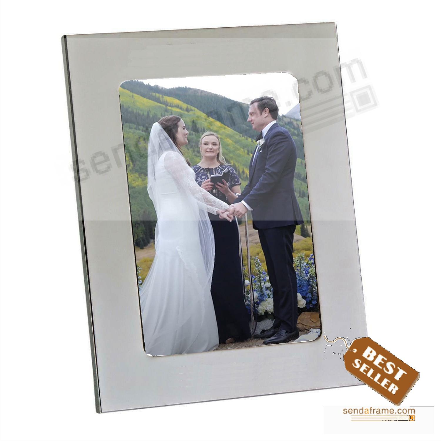 SILHOUETTE High-Polished+Engraveable Silverplate 5x7 Frame Classic