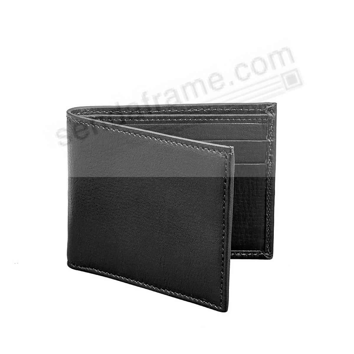 Black Slim Bi-Fold Wallet in Vachetta Leather by Graphic Image®