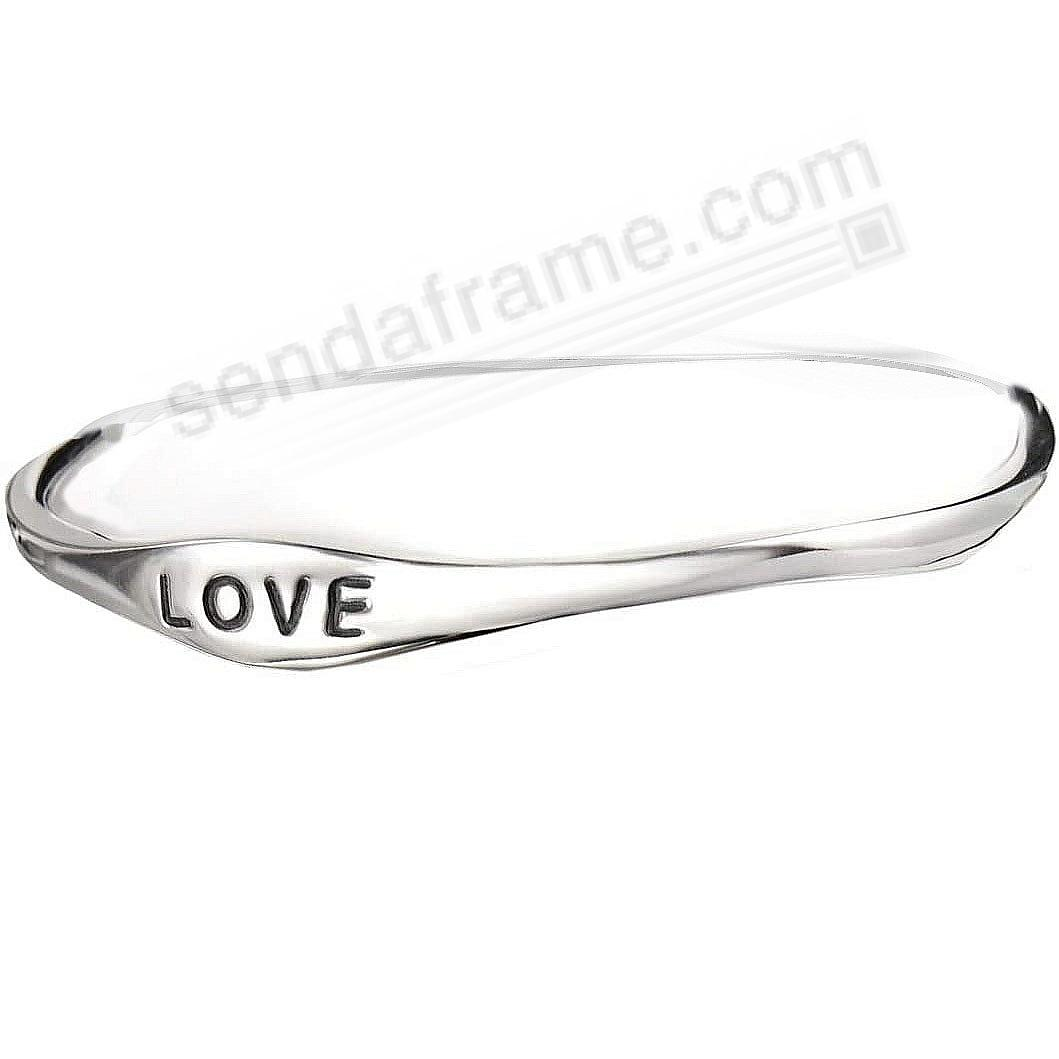 The LOVE BANGLE BRACELET in Fine .925 STERLING SILVER by Nambe®