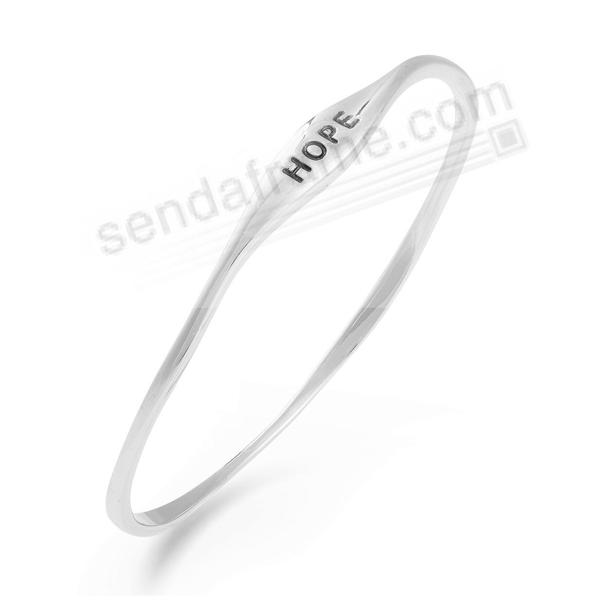 The HOPE BANGLE BRACELET in Fine .925 STERLING SILVER by Nambe®