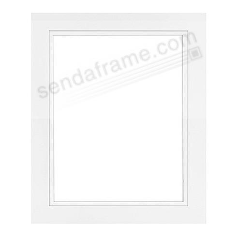 The MODERN Seamless white wood skinny mat 8x10/8x10 frame by Framatic®