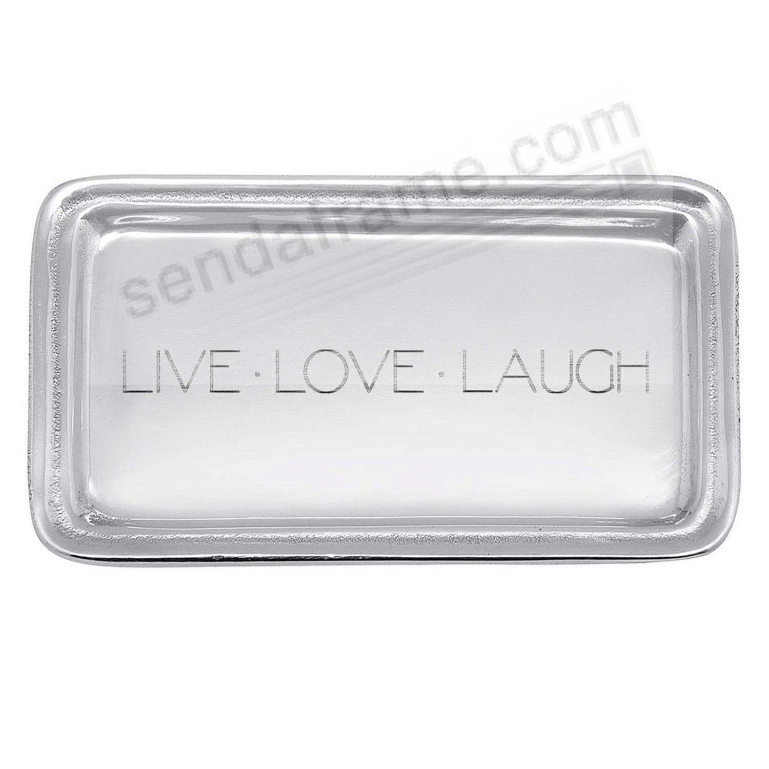 LIVE LOVE LAUGH 6¾in TRAY by Mariposa®