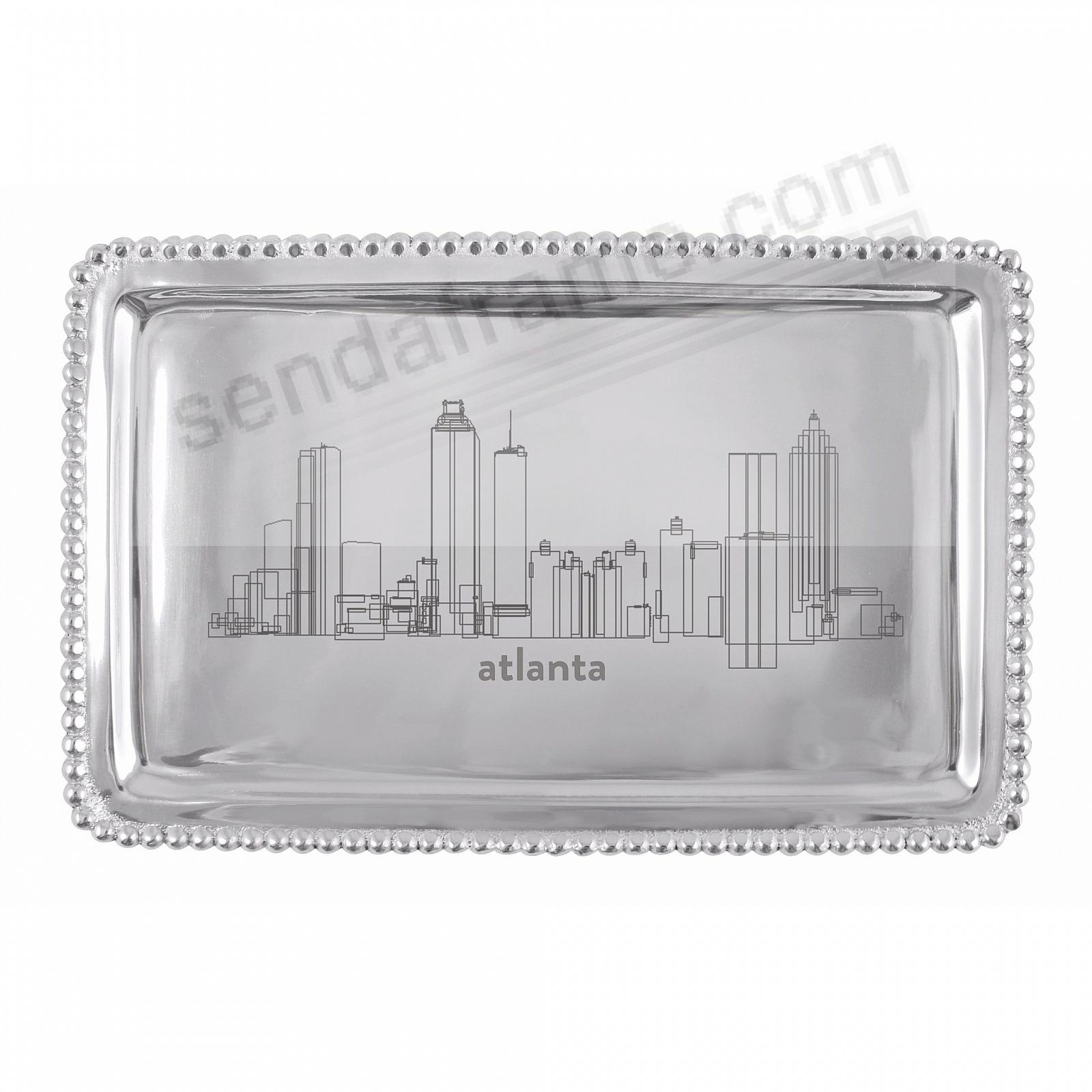 The ATLANTA-GA CITYSCAPE BEADED BUFFET 9in TRAY crafted by Mariposa®
