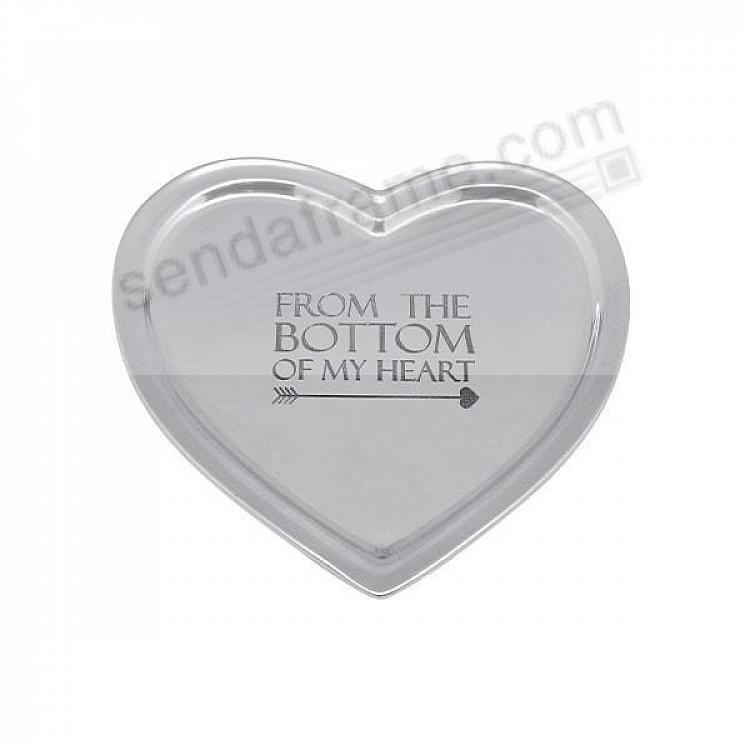 FROM THE BOTTOM OF MY HEART 6in Signature TRAY crafted by Mariposa®