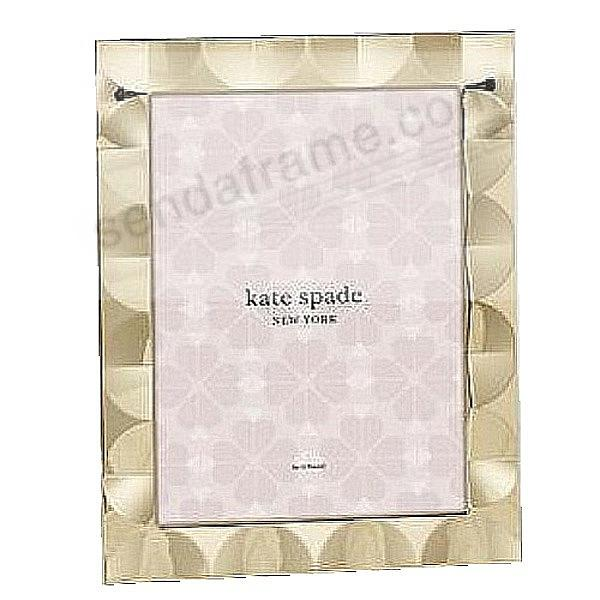 SOUTH STREET GOLD SCALLOP 8x10 frame by kate spade new york®