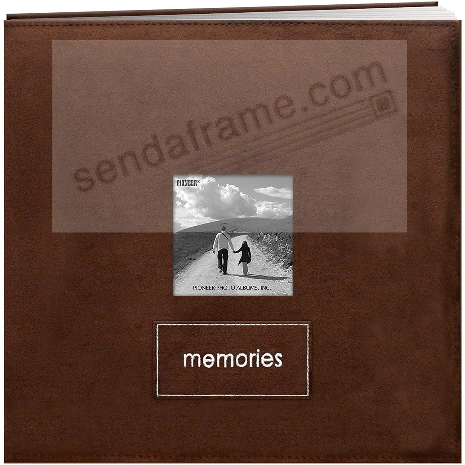 MEMORIES Postbound Faux-Suede Frame-Front Black by Pioneer®